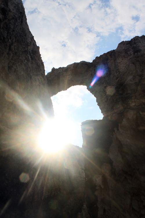 Солнце сквозь пещеры