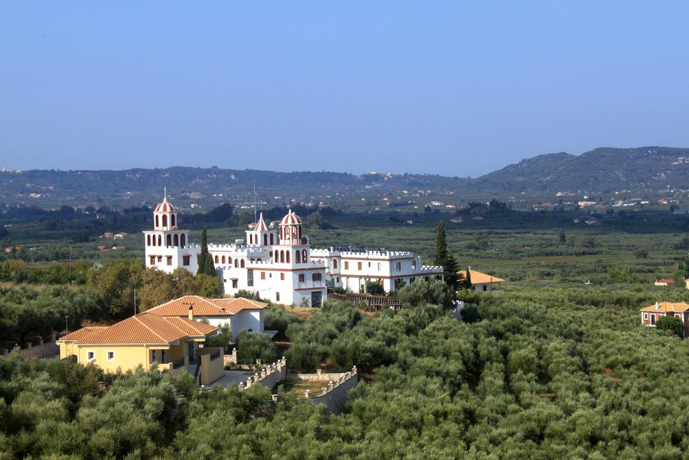 Панорамный вид монастыря Богородицы Освободительницы Панаги́я Элефтеро́трия
