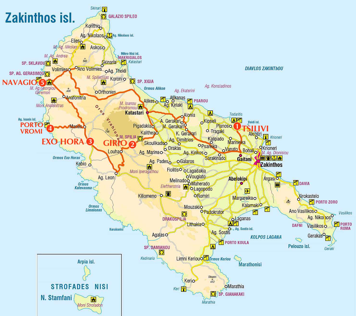 Карта пути 6-го дня